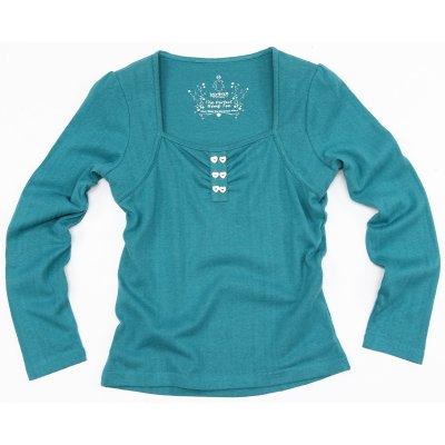 Dámské oblečení Konopné tričko Queen of heart světle modré
