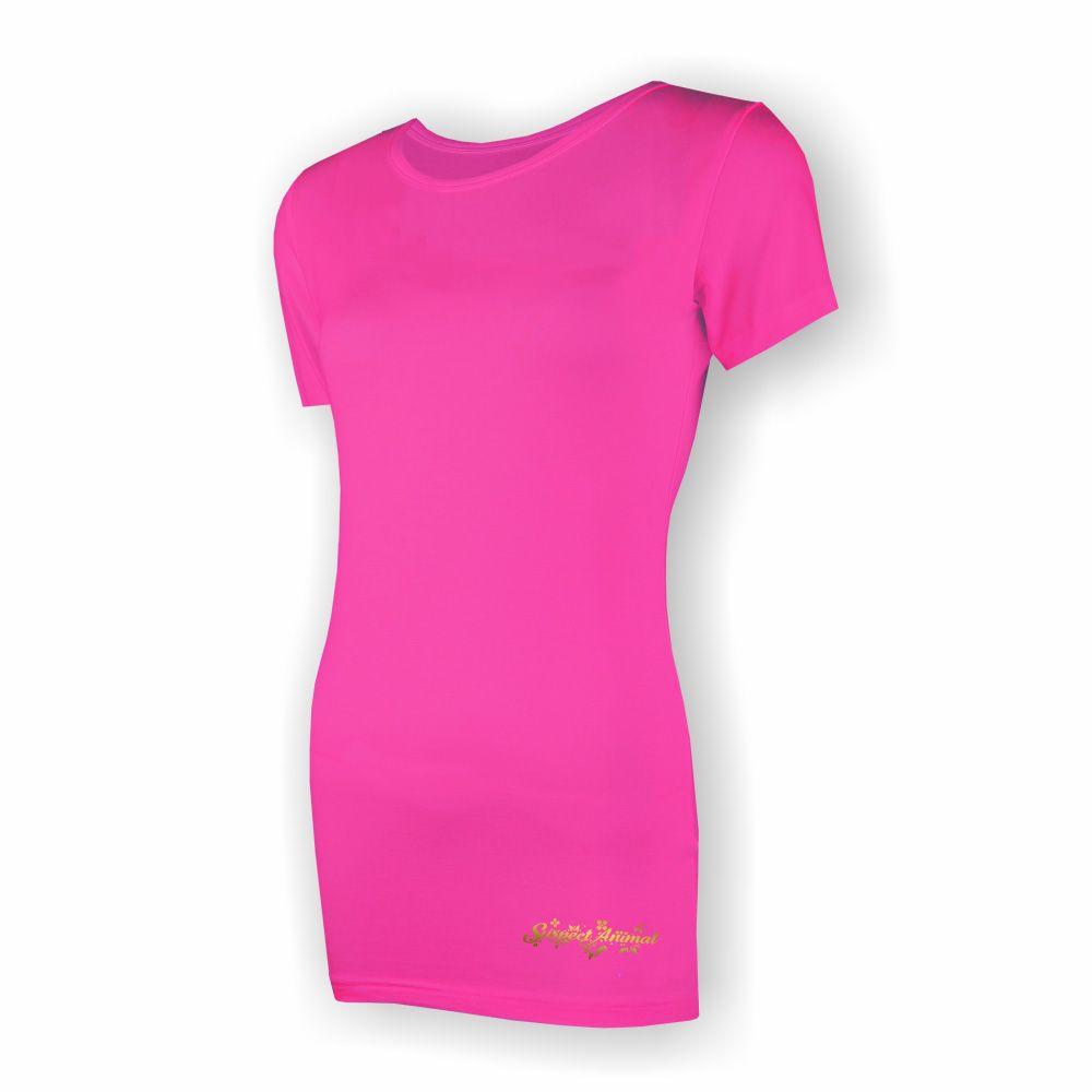 84f54cce09 Bambusové tričko Sporty krátký rukáv (růžová)