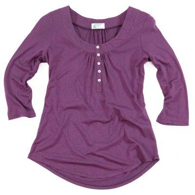 Dámské oblečení Bambusové tričko Fair button top
