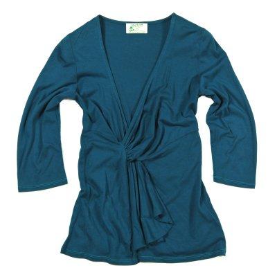 Dámské oblečení Bambusové tričko Top Fair Tea petrolejová