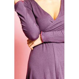 Dámské oblečení bambusové šaty Dámské šaty Clarissa May fialové