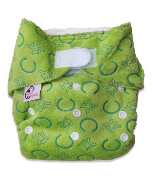 48533444568 Dětské plenky a plenkové kalhotky - Bambusové plenkové kalhotky zelené